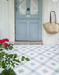 blue and white cement tile and vinyl flooring options the lettered cottage