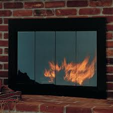 fireplace doors open or closed rectangle masonry