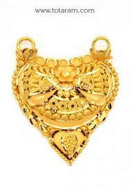22k gold pendant totaram jewelers