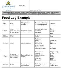 Sample Food Logs Food Log Example Magdalene Project Org