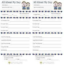 sle daily work report template free doents in toddler daycare newsletter templates for pages a pre