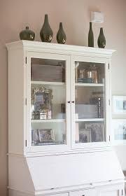 pottery barn graham secretary and hutch accessorizing bookshelves mercury glass bookshelves pottery