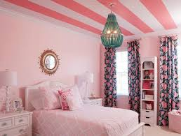 Pink & Turquoise Big Girl Room traditional-kids