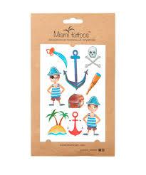 акварельные переводные тату Pirate