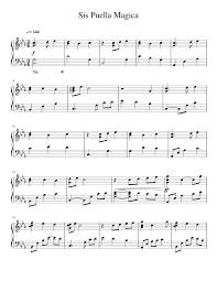 Sis Puella Magica Sheet music for Piano (Solo)   Download and ...