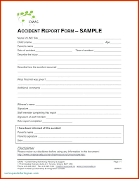 Generic Accident Incident Report Form Templates Odu5oti
