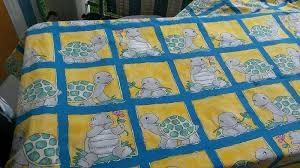 Vorhangstoff Kinderzimmer 1 Fertiger 2 ResteVorhangstoffe +1 Vorhang Stoff  Eingenäht 85x 160 Schildkröte, 1