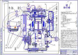 Все работы студента Клуб студентов Технарь  Компрессор воздушный поршневой КТ 7 разрез Чертеж Оборудование для бурения нефтяных и газовых