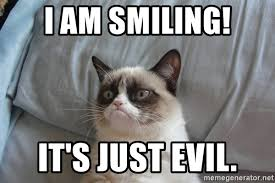 grumpy cat i am smiling. Contemporary Cat Grumpy Cat  I Am Smiling Throughout Am Smiling