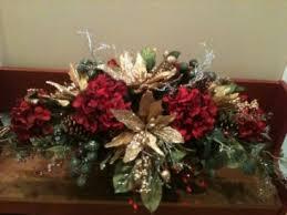 Silk Christmas Centerpiece Holiday Silk