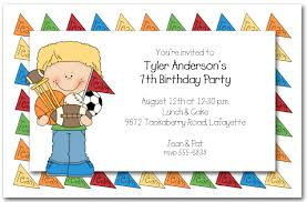Children's Sports Party Invitations, Kids Sports Birthday Invitations