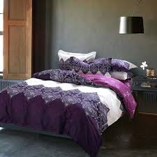 purple duvet cover bedding set cotton bed quilt queen size bedspread pillowcase bedclothes sheet in sets purple duvet cover