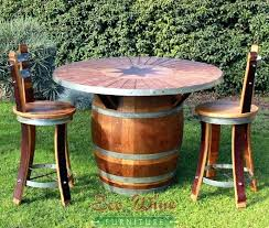 wine barrel outdoor furniture. Outdoor Wine Barrel Furniture For Table Nz A
