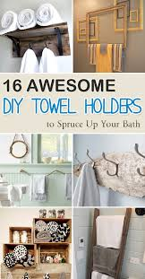 Bath towel holder Diy Your House Garden 16 Awesome Diy Towel Holders To Spruce Up Your Bath