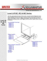 waltco level lift series liftgate by the liftgate parts co issuu level lift bz rz wz series