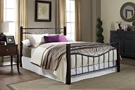Hamilton Bedroom Furniture Dorel Home Furnishings Hamilton Metal Bed With Wooden Posts