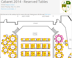 Jazz Band Seating Chart Canadian Cabaret Uses Simpletix Seating Charts For Online