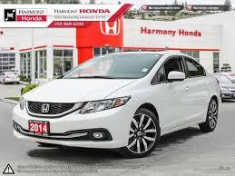 honda civic 2014 white. Simple 2014 2014 Honda Civic Touring Sedan  Harmony White U5568 Kelowna BC On U