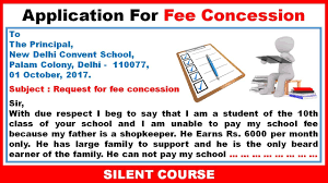 Write An Application To The Principal For Fee Concession Youtube