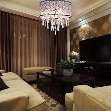 dinggu luxury drum 4 lights flush mounted crystal ceiling lamp modern chandelier pendant light fixtures for bedroom wall s furniture decor