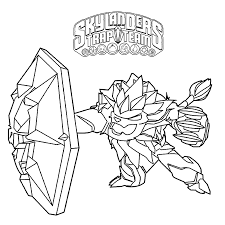Skylander Trap Team Printable Coloring Pages Freeze Chronicles Network