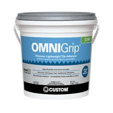 custom building s omnigrip 1 gal maximum strength tile adhesive