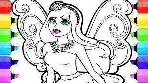 Barbie Coloring Pages How To Draw And Color Fairy Barbie Coloring