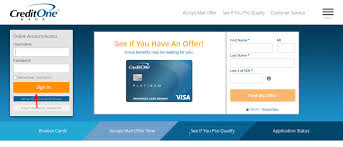 pay your credit one bank bill