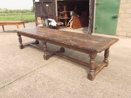 antique dining room furniture uk. large antique dining table - 12ft charles ii period 17th century oak refectory room furniture uk e