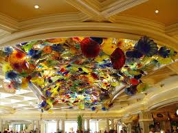 pictures of dale chihuly glass structure in las vegas
