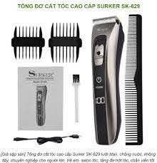 Giá sập sàn] Tông đơ cắt tóc cao cấp Surker SK-629 lưỡi titan, chống nước,  không dây, chuyên nghiệp cho người lớn, trẻ em, salon tóc, tăng đơ hớt tóc,  chấn viền