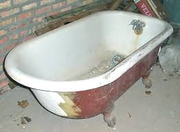 antique clawfoot tub damaged plumbing antique clawfoot tub