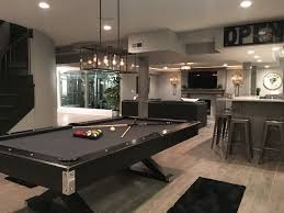 Unique Basement Pool Table Tableping Pong Conversion And Dart Board To Beautiful Design