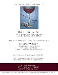 valley dogs rescue bark wine click here for the flyer