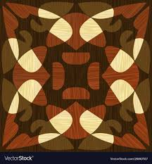 Wood Inlay Patterns Extraordinary Wooden Inlay Light And Dark Wood Patterns Wooden Vector Image