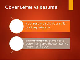 cover letter vs resume - How To Write A Cover Letter For A Resume