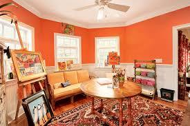 orange home office. Perfect Home Art Studio Eclectichomeoffice In Orange Home Office A
