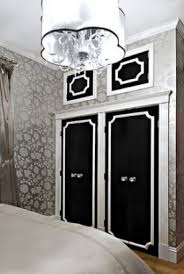 painted closet door ideas. Below (via Apartmentteraphy) Closet Door Ideas With Wallpaper, Molding, Mural, Chalkboard Paint And Fabric. Painted R