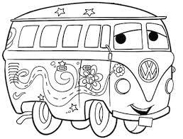 Disegno Di Fillmore Di Cars Da Stampare E Colorare Gratis Con