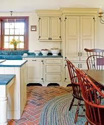 Red Brick Flooring Kitchen The Best Flooring Choices For Old House Kitchens Old House