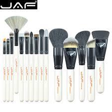 jaf brand 15 pcs makeup brush set professional make up beauty blush foundation contour powder cosmetics brush makeup j1501m w in makeup scissors from beauty