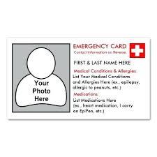 Emergency Card Template Medical Emergency Card Template Wallet Id Jjbuilding Info