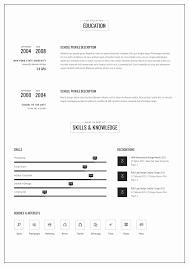 Cv Versus Resume Adobe Illustrator Resume Template New Versus Resume Responsive Cv 17
