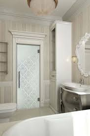 bathroom glass door with p107 design in privacy style
