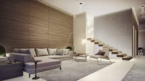 modern minimal lounge lighting. Pict 21 Living Room With Soft Grey Area Rug Wood Wall Treatment White Floor Minimalist Stairs Brown Pillow Scone Arc Lamp Modern Minimal Lounge Lighting