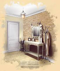 Flat Hall Design Vintage Flat Hall Interior Vintage Bathroom Lighting
