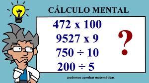 En muchas ocasiones los niños son capaces de entender números, de hacer operaciones, comparaciones, etc. Calculo Mental De Sumas Restas Multiplicaciones Y Divisiones Youtube
