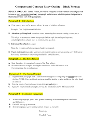 compare essay outline compare and contrast essay samples for