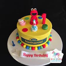 Elmos 1st Birthday Cake Tanner Gates
