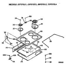 ge electric range parts model jdp37gl4 sears partsdirect cooktop